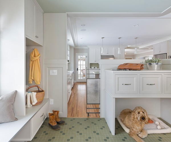 Stylish Built-In Sleeping Areas for Goldendoodle